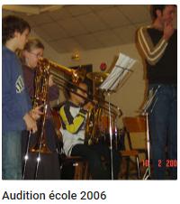 2006 audition ecole
